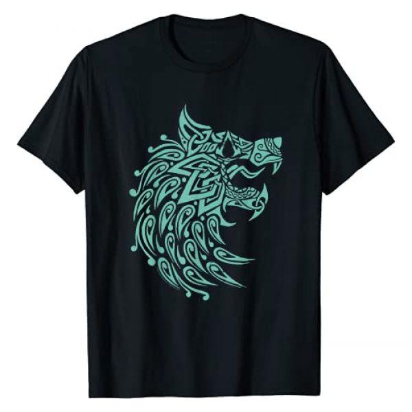 Assassin's Creed Graphic Tshirt 1 Valhalla Geometric Wolf T-Shirt