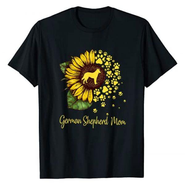 Love German Shepherd Dog Gift Graphic Tshirt 1 Womens Sunflower German Shepherd Mom Dog Lover Gift T-Shirt