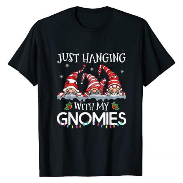 Christmas Gifts Matching Family Pajama Graphic Tshirt 1 Hanging With My Gnomies Christmas Santa Gnome Xmas Tree T-Shirt