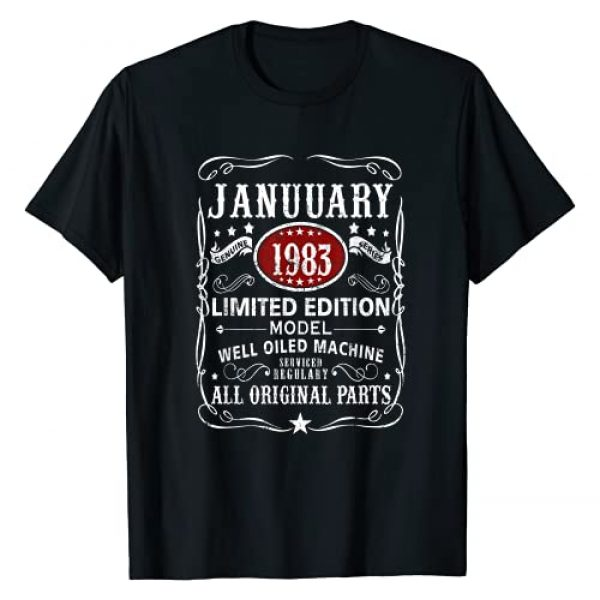 38th Birthday Gifts Born In January 1983 Graphic Tshirt 1 38th Birthday Gifts 38 Years Old Born In January 1983 T-Shirt