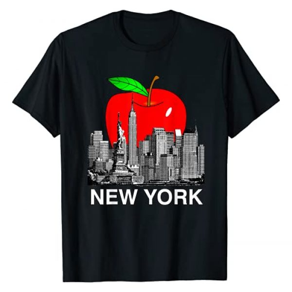 USA American Premier Pride Prints Graphic Tshirt 1 New York City Skyline di New York Big Apple Tri State T-Shirt