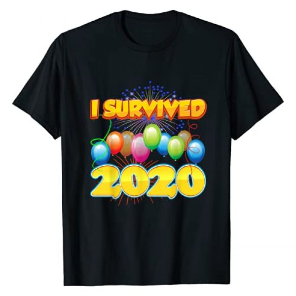 2021 Party Supplies Graphic Tshirt 1 I Survived 2020 in 2021 Funny Sarcastic Cute Humor Positive T-Shirt