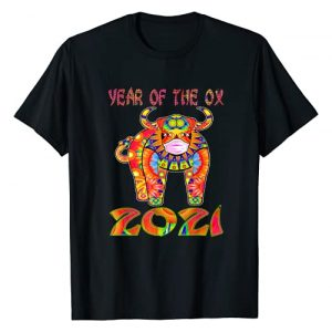 Chinese Zodiac Horoscope 2021 Year of the Ox Gifts Graphic Tshirt 1 Chinese Zodiac Horoscope Decor New Year of Ox 2021 Face Mask T-Shirt