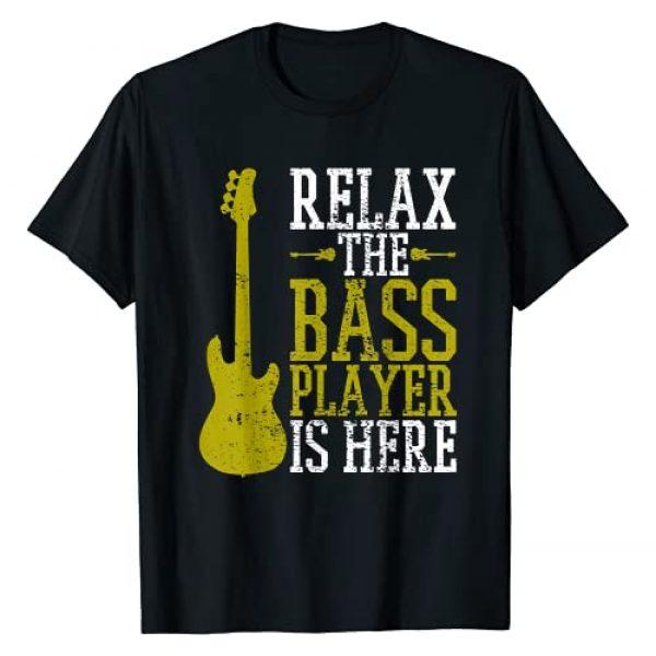 Unique Bass Player Gifts Graphic Tshirt 1 Bass Player Guitar Guitarist Music School Vintage T-Shirt