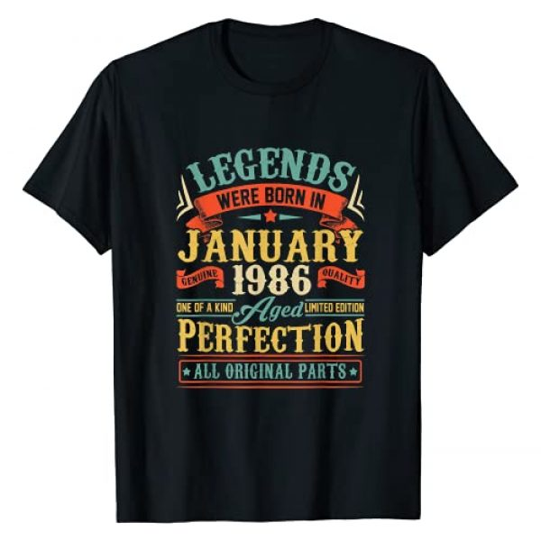 Legends Were Born In January 1986 35th Birthday Graphic Tshirt 1 Legend Since January 1986 35th Birthday Gifts 35 Year Old T-Shirt