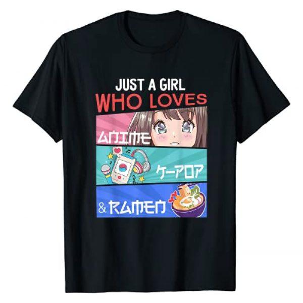 Japanese Anime Merch Gifts For Teen Girls Otaku Graphic Tshirt 1 Just A Girl Who Loves Anime K-Pop Ramen KPop Lover Kawaii T-Shirt