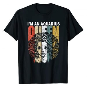 Aquarius Gifts for Women by RobustCreative Graphic Tshirt 1 Queen Aquarius Gifts for Women Shirt - February January Bday T-Shirt