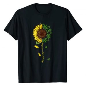 Funny Cannabis Weed Leaf Lover Tee Shirt Graphic Tshirt 1 You Are My Sunshine Sunflower Weed T-Shirt