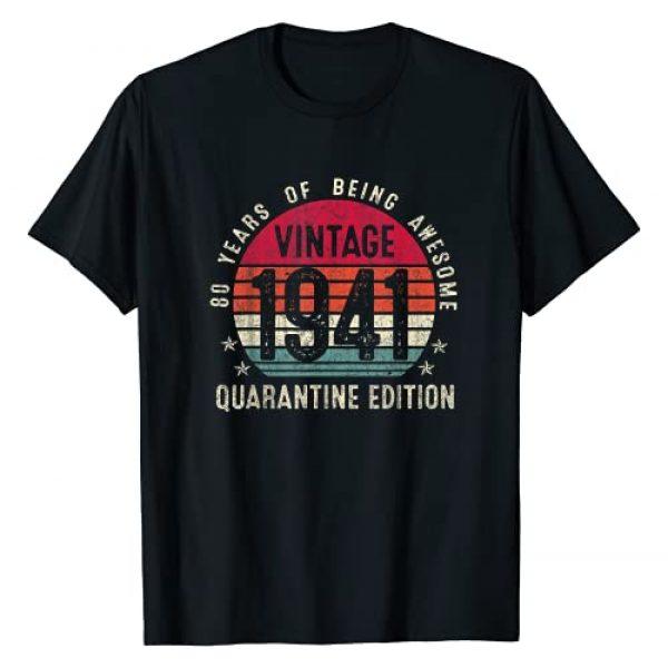 Vintage Quarantine 80th Birthday Gift Shirts Graphic Tshirt 1 80th Birthday Retro Limited Edition Vintage 1941 Quarantine T-Shirt