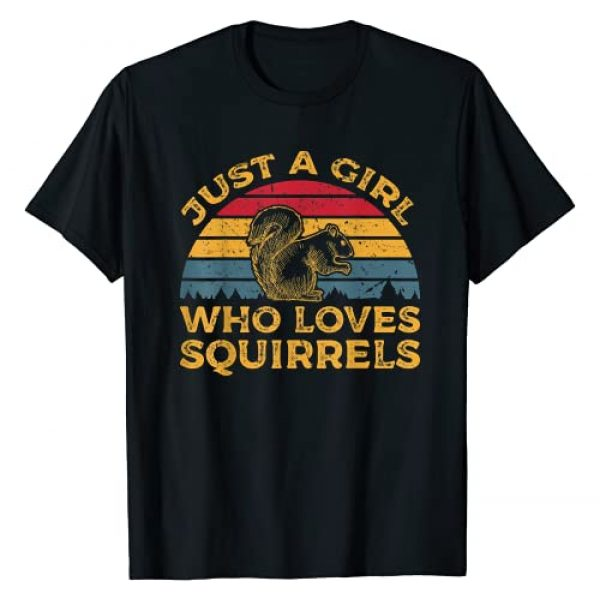 Vintage Squirrel Apparel For Squirrel Lovers Graphic Tshirt 1 Vintage Just a Girl Who Loves Squirrels T-Shirt