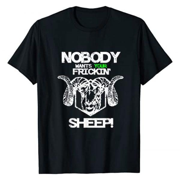 designsnutz Graphic Tshirt 1 Nobody Wants Your Sheep design Board Game Geek Nerd Fan Joke T-Shirt
