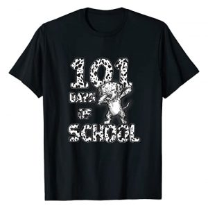 Funny 101 Days School Dabbing Dalmatian Dog Graphic Tshirt 1 100 days Teacher T-Shirt