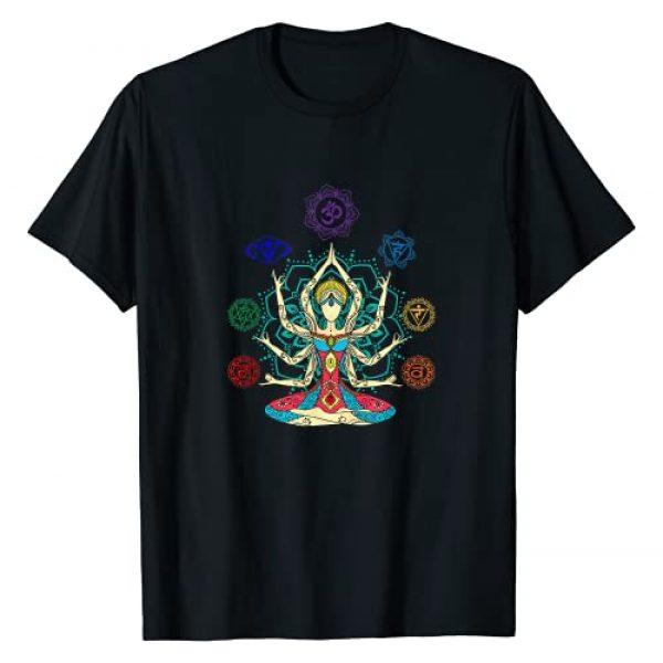 KINGERS Graphic Tshirt 1 7 Chakras, Om Symbol, Aum, Yoga T-Shirt