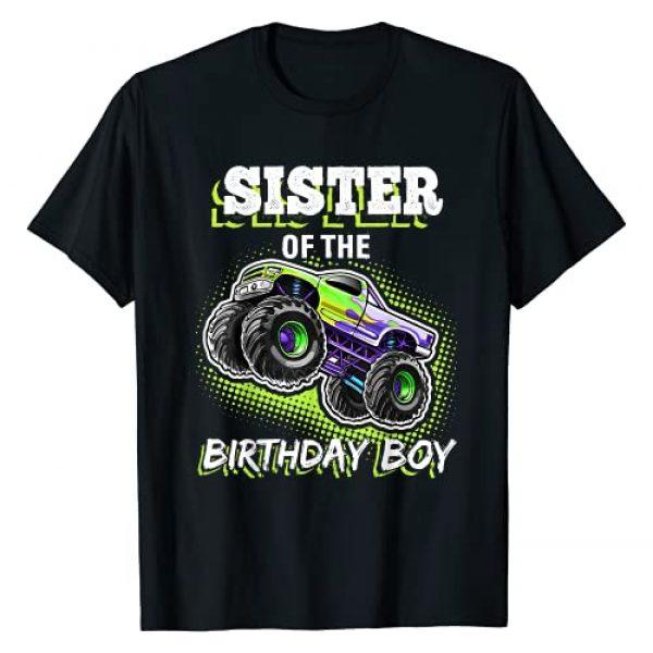 Monster Truck Family Birthday Apparel Graphic Tshirt 1 Sister of the Birthday Boy Monster Truck Birthday Gift T-Shirt