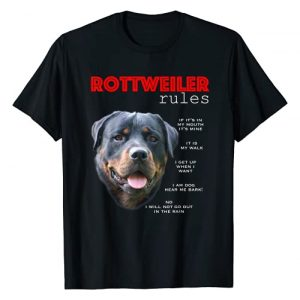 Rottweiler Gifts - click to designs! Graphic Tshirt 1 Funny rules for the owner of a Rottweiler T-Shirt