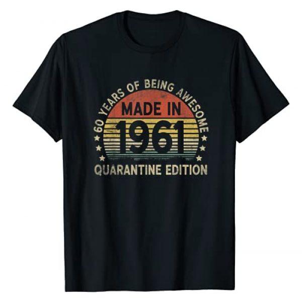 Merchingo - Born in 1961 Graphic Tshirt 1 60th Vintage Quarantine Edition 1961 Birthday Gift 60 yr old T-Shirt