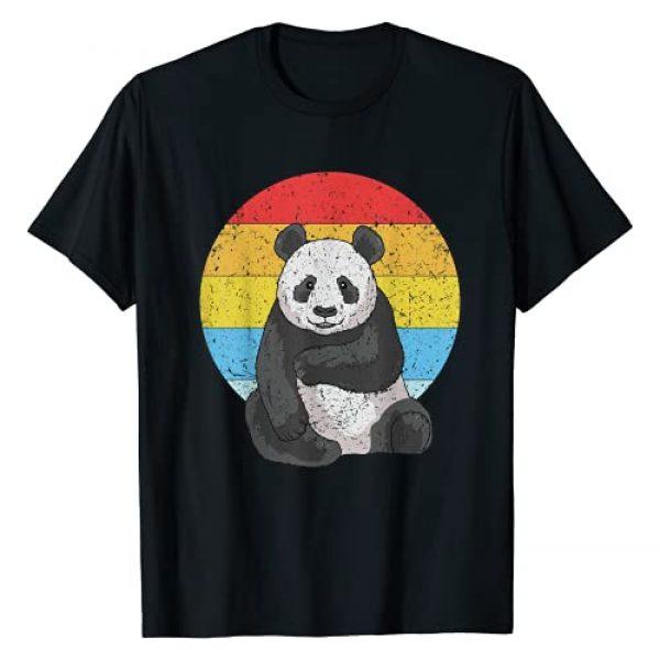 The Cute Panda Gifts Co. Graphic Tshirt 1 Retro Sunset Panda for Men Women Kids Vintage Panda T-Shirt