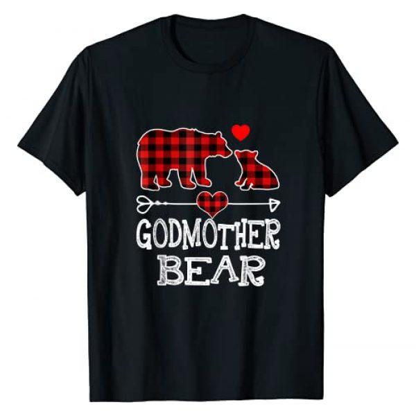 Red Plaid Buffalo Family Gifts By TB Graphic Tshirt 1 Godmother Bear Christmas Pajama Red Plaid Buffalo Family T-Shirt