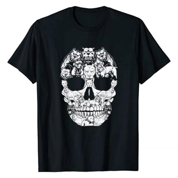 Cool Halloween Costumes T-Shirt For Men Women Kids Graphic Tshirt 1 Pitbull Dog Skull Shirt Halloween Costumes Gift T-Shirt