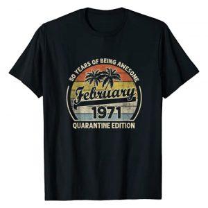 Vintage February 1971 50th Birthday Shirt 50 Years Graphic Tshirt 1 Born February 1971 50th Quarantine Bithday Gift 50 Years Old T-Shirt