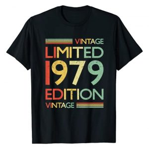 Vintage Style Tee Shirts Birthday Gifts Graphic Tshirt 1 42 Years Old Shirt- 42nd Birthday Gift Vintage 1979 T-Shirt