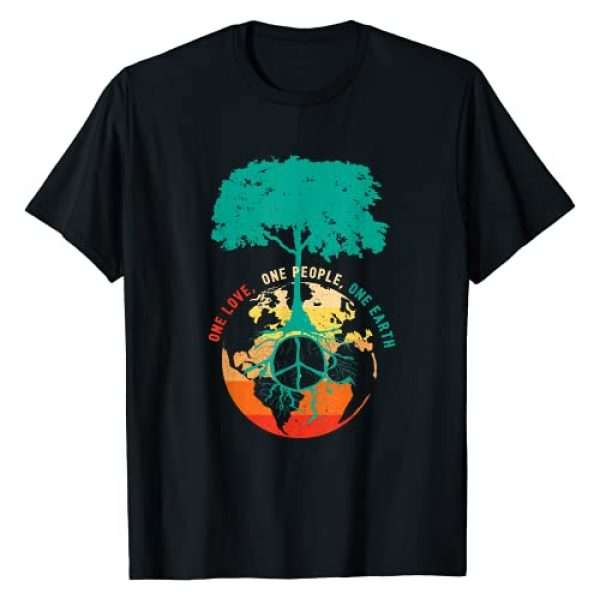 InGENIUS World Peace Sign Gifts Graphic Tshirt 1 World Peace Tree Love People Earth Day 60s 70s Hippie Retro T-Shirt