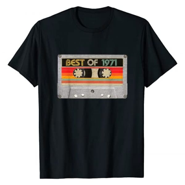 BORN Graphic Tshirt 1 Best Of 1971 50th Birthday Gifts Cassette Tape Vintage T-Shirt