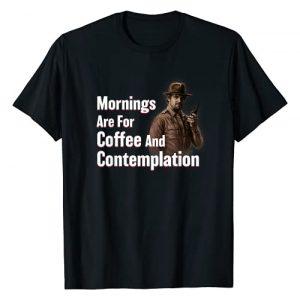Stranger Things Graphic Tshirt 1 Netflix Stranger Things Hopper Coffee And Contemplation T-Shirt