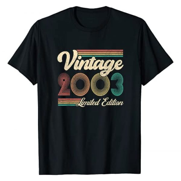 Born in 2003 - 18 Years Old Being Awesome Gifts Graphic Tshirt 1 Vintage 2003 Limited Edition Retro 18th Bithday 18 Years Old T-Shirt
