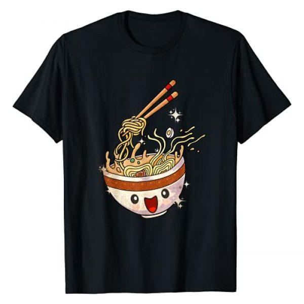 Anime Art & Apparel Graphic Tshirt 1 Kawaii Anime Japanese Ramen Noodles Bowl T-Shirt