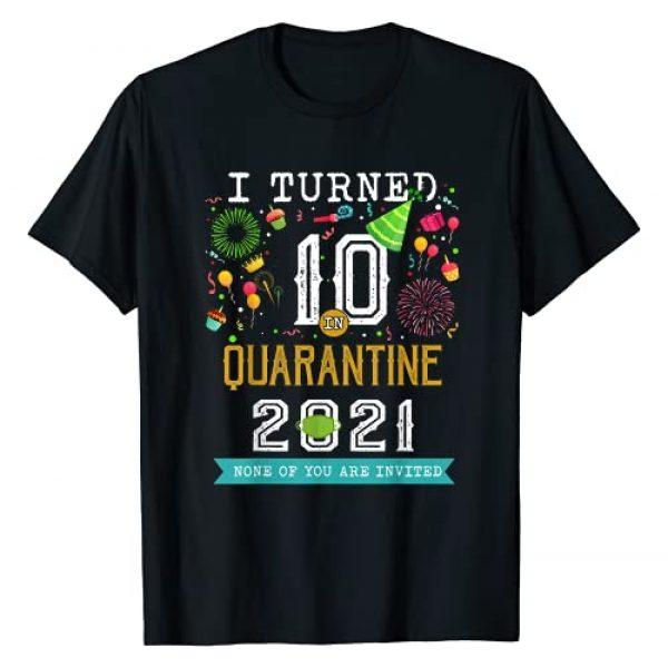 Quarantine birthday shirt Graphic Tshirt 1 I turned 10 in quarantine 10th birthday Teenagers on 2021 T-Shirt