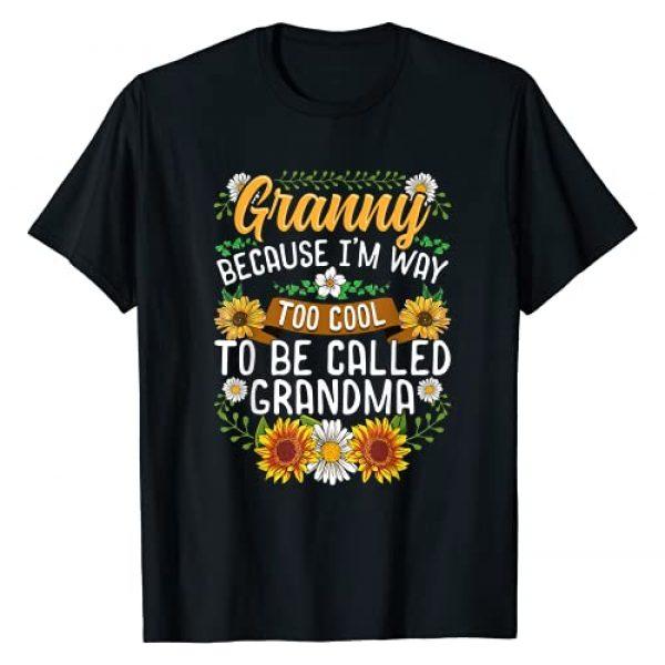 Grandma Shirt & Tees Co Graphic Tshirt 1 Granny Because I'm Way Too Cool To Be Called Grandma T-Shirt