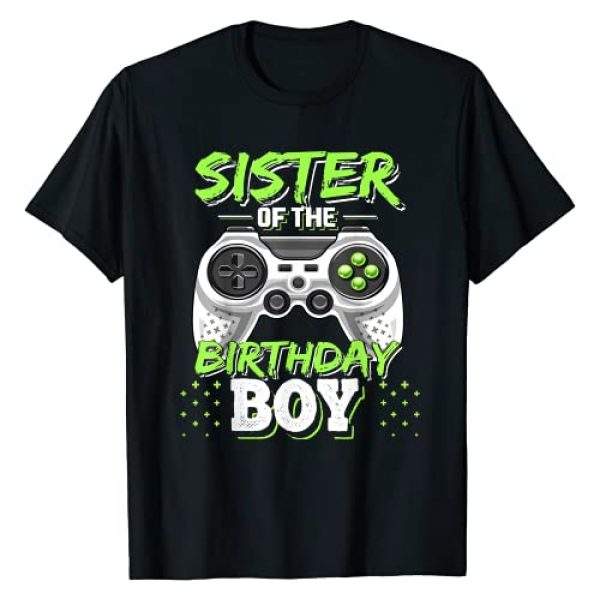 Birthday Gamer Shirts Graphic Tshirt 1 Sister of the Birthday Boy Matching Video Game Birthday Gift T-Shirt