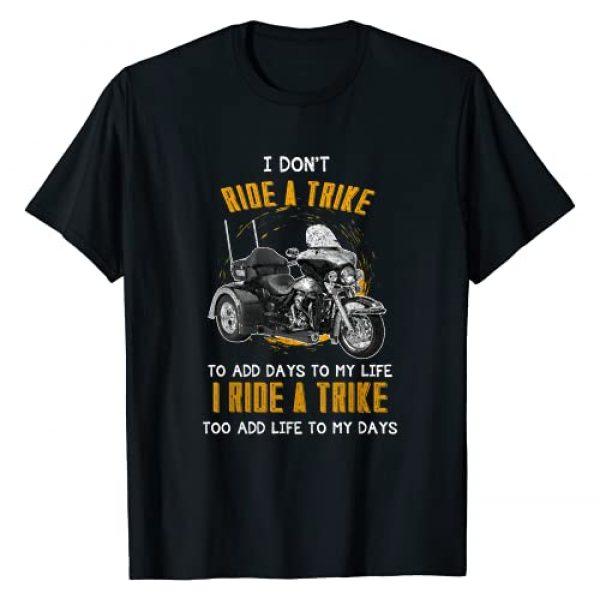 Motortrike Three Wheeled Motorcycle Triker Apparel Graphic Tshirt 1 Triker Three Wheeler Motortrike Gift I Ride A Trike T-Shirt