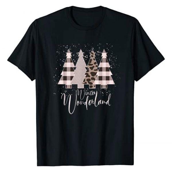 Home State Design Company Graphic Tshirt 1 Winter Wonderland Christmas Tree Buffalo Plaid Leopard T-Shirt