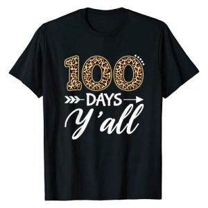 100th Days Of School 2021 gifts kids child adults Graphic Tshirt 1 100 Days Y'all Teacher or Student 100th Day of school gift T-Shirt