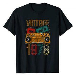 Vintage Birthday Gifts Retro Graphic Tshirt 1 43rd Birthday Gifts - Years Old Vintage 1978 T-Shirt