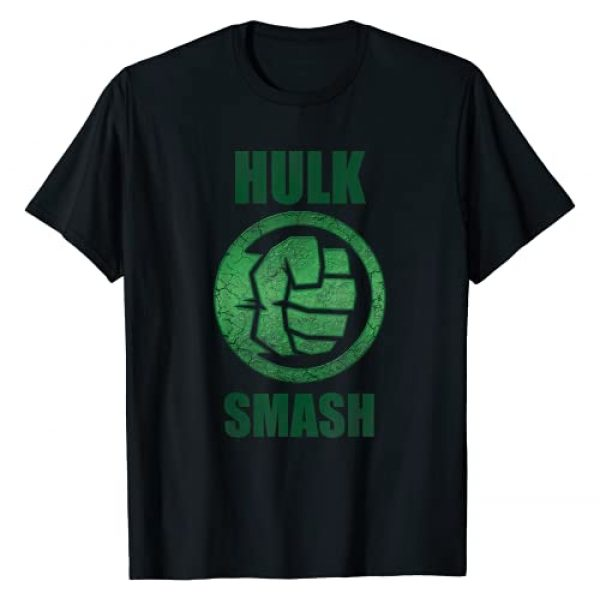 Marvel Graphic Tshirt 1 Hulk Smash Fist Circle Logo Green Stone Poster T-Shirt