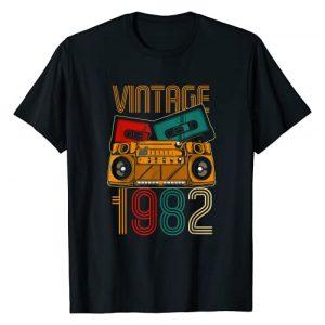 Vintage Birthday Gifts Retro Graphic Tshirt 1 39th Birthday Gifts - Years Old Vintage 1982 T-Shirt