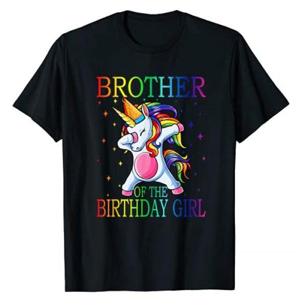 Family Of The Birthday Girl Unicorn T-Shirt Graphic Tshirt 1 Brother Of The Birthday Girl Unicorn T-Shirt T-Shirt