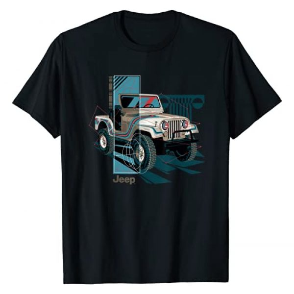 Jeep Graphic Tshirt 1 Wrangler Painted Angles T-Shirt