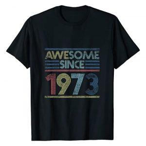 Vintage Birthday Gifts Retro Graphic Tshirt 1 Vintage 48th Birthday Gifts - Awesome Since 1973 T-Shirt