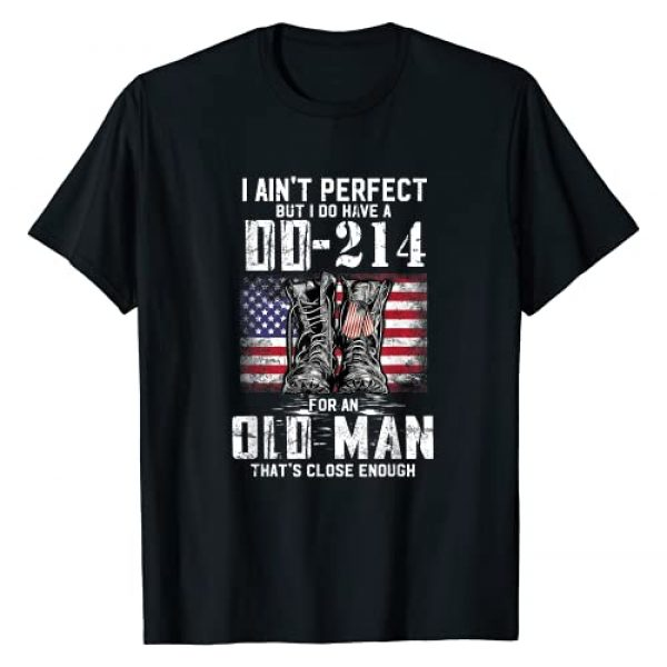Funny American Flag Vintage Gifts Graphic Tshirt 1 I Ain't Perfect but I Do Have A DD-214 American Flag Vintage T-Shirt