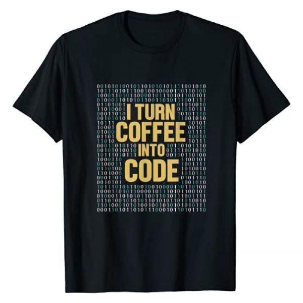Coding I Turn Coffee Into Code Software Engineer Graphic Tshirt 1 I Turn Coffee Into Code Software Engineer Developer Coding T-Shirt