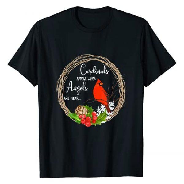 Red Cardinal bird Graphic Tshirt 1 Cardinals appear when angels are near Birds T-Shirt