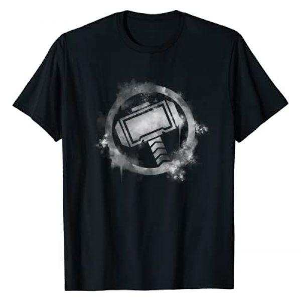 Marvel Graphic Tshirt 1 Avengers Endgame Thor Spray Paint Logo T-Shirt