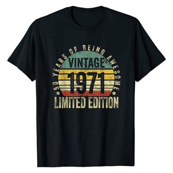Vintage Being Awesome Birthday Gifts Graphic Tshirt 1 50 Year Old Gifts Vintage 1971 Limited Edition 50th Birthday T-Shirt