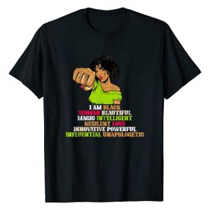 Black History Month Tee African Woman Graphic Tshirt 1 BHM Women Girls Gift Black History Month African American T-Shirt