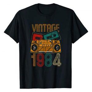 Vintage Birthday Gifts Retro Graphic Tshirt 1 37th Birthday Gifts - Years Old Vintage 1984 T-Shirt