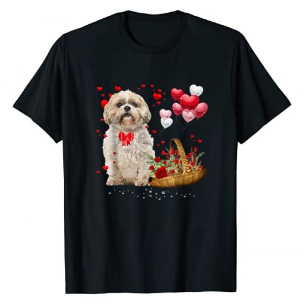 Love Dog Valentine's Day Gift Tee Graphic Tshirt 1 Shih Tzu Valentines Day Shirt Funny Dog Valentine Gift T-Shirt